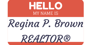 real estate name badge