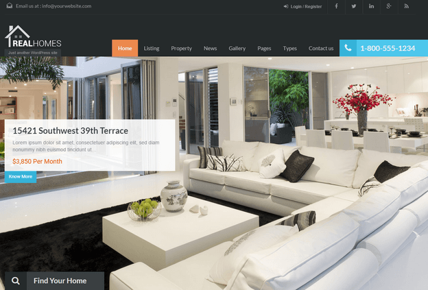 WP Real Homes - Wordpress Real Estate Themes