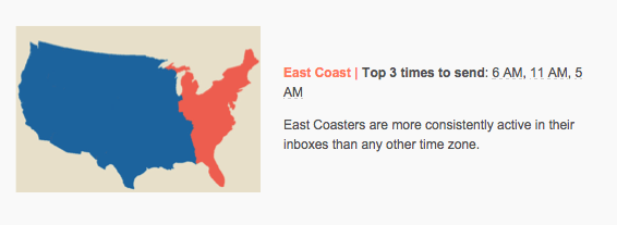 Best Time To Send Email On The East Coast