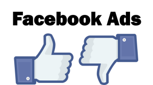 The contains the Like button on facebook up and down, meaning positive or negative