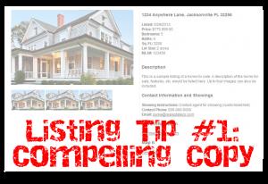 Listing Tip #1: Make Your Description Compelling