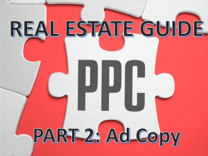 Google Adwords Part 2: Effective PPC Real Estate Ad Copy