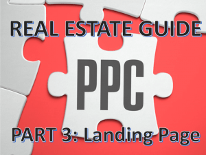 Google AdWords Part 3: Get Your Landing Page Right