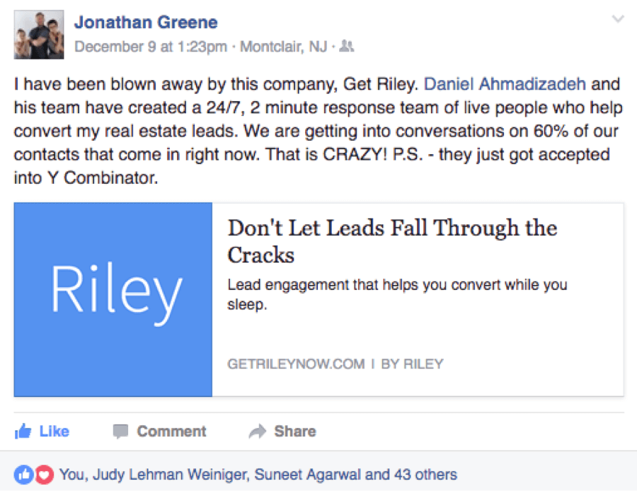 Riley: How to Follow Up with Leads While You Sleep