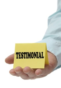 Testimonials are Your Friends in Real Estate for Leads