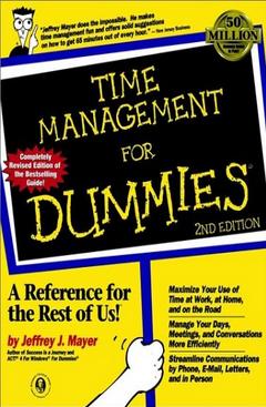 Time Management for Dummies  Jeffrey J. Mayer