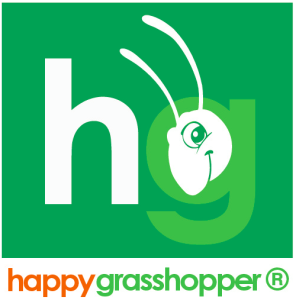 happy grasshopper logo