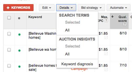 keyword details report