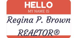 real estate name badge