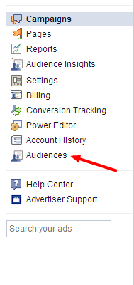 Creating Facebook Retargeting Audience