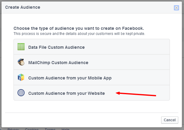 Creating Facebook Retargeting Audiences
